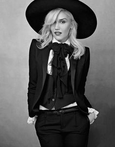 Gwen Stefani : put her In a black leohtard &  White tites & back boots , with a patch over One eye . Sheed make thuh perfect  Pirate peg !