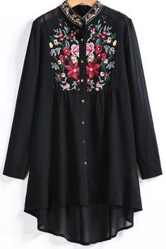 Beautifully Embroidered Tunic Blouse