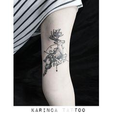 Deer Tattoo by Bahadır Cem Börekcioğlu http://instagram.com/karincatattoo #deer #tattoo #tattoodesign #geyik #tasarim #dovme #armtattoo #tattooidea #istanbul