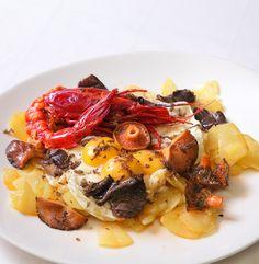 Restaurante Los Cabezudos:   Premio Cocina Clásica Tradicional - Plato Central:  Huevos Trufados con Carabineros