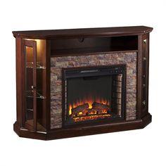 Boston Loft Furnishings Reamrock Electric Fireplace Media Stand with Convertible Corner