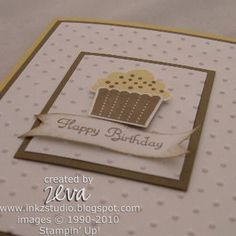 Birthday Cupcake Close-up by ztampingfun - Cards and Paper Crafts at Splitcoaststampers
