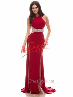 88f550ba24 The Cassandra Stone by Mac Duggal prom dress 65024A is red carpet worthy!  This jersey