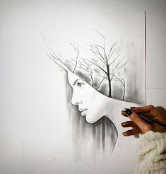 I love nature and I like to personify it in pencil portraits using mechanical pencil and charcoal. These are the works I made inspired by this theme so far. Pencil Drawings Of Nature, Nature Drawing, Self Portrait Drawing, Pencil Portrait, Earth Sketch, Nature Sketch, Cartoon Drawings, Cool Drawings, Mechanical Pencils