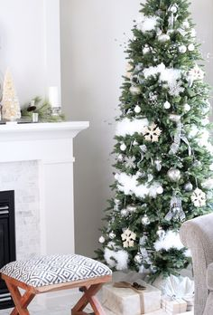 canadian white christmas home tour pretty christmas treesxmas - Pretty Christmas Trees