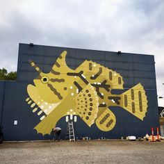 """Amok Island : """"Finished, just before the rain. """"Histrio Histrio / Sargassum Frogfish"""" in Leederville"""""""