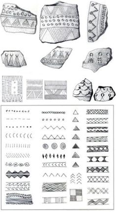 Pottery geometric patterns!  Quests of the Dragon and Bird Clan: Early States in Southeast Asia