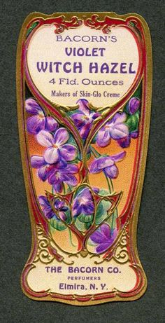 1900s Perfume Label