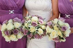 Laura and Iain Wedding Day Flowers. Bride and Bridesmaid flowers