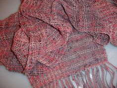 "Check this out at https://www.etsy.com/shop/JoyfulNoiseWeaving DAWN! This hand woven, ladies scarf is so very light weight and airy and it will make a perfect accessory for just about any outfit. This scarf would make a wonderful gift for yourself or for someone on your gift list. It is a great length which allows for great versatility. This length allows for multiple ways to tie and drape this beautiful scarf. The color way of the yarn is called ""Dawn"". Wear it to ""wake up"" any outfit!"