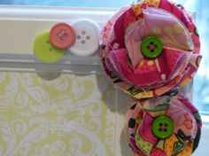 Items similar to Fabric Flower Embellished Picture Frame- Colorful Zinnias and Buttons on Etsy Zinnias, Real Flowers, Fabric Flowers, Picture Frames, Unique Jewelry, Handmade Gifts, Pretty, Projects, Buttons