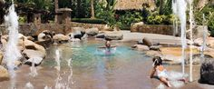 The Agua Pool, a tropical oasis with waterfall and a meandering river, also features a dedicated children's pool making it ideal for families. One & Only Palmilla. Los Cabos.
