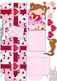 Love Heart Girl Party Favour Place Setting Gift Box