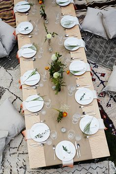 Outdoor entertaining ideas by Eye Swoon | Photo by Photographed by Winnie Au | Read more - http://www.100layercake.com/blog/?p=78106 #bohemian #backyard #party