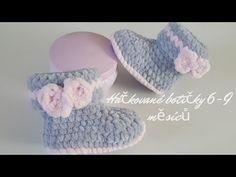Háčkované botičky 6-9 měsíců - YouTube Crochet Baby Booties Tutorial, Crochet Baby Socks, Crochet Hats, Baby Month By Month, Baby Gifts, Knitted Hats, Slippers, Knitting, Pattern