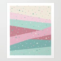 #artprints #geometric #graphicdesign #pastelcolors #cute #sweet #wallart #abstract