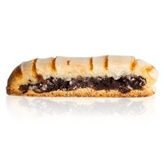 Bicotti Napoletani - A shortbread pasty filled with chocolate, nuts and crushed biscuits, topped with icing & blackcurrant jam