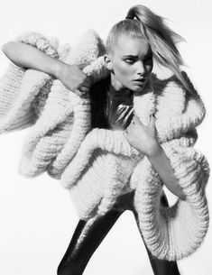 Sculpted Knitwear with dramatic 3D construction - structural knit design; wearable art // Sandra Backlund
