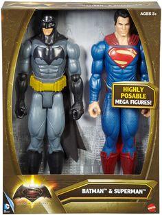 Amazon.com: Batman v Superman: Dawn of Justice Batman and Superman Figure 2-pack: Toys & Games