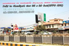 Available on rent, 3 faces (sides) hoarding on Delhi Chandigarh highway, flyover, NH1, opp bus stand with visibility range uoto 4_5 km on flyover, highway is available.