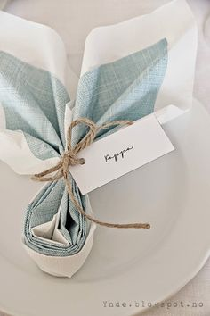 Easter in Blue with Napkin Fold Decor
