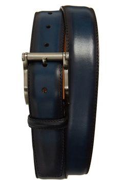 Magnanni 'Carbon' Leather Belt available at #Nordstrom.  Visit WishlistPages.com for more stylish belts.
