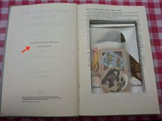 An old book hollowed out to package snail mail