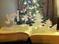 pop up book art christmas trees