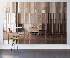 Category-defining hospitality design by AfroditiKrassa Spiegel Design, Mirror Panels, Mirror Art, Mirror Collage, Mirror Vanity, Bronze Mirror, Wall Cladding, Wall Panelling, Decoration Design