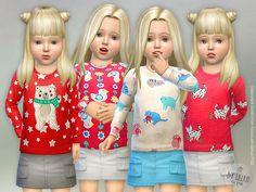 Designer Shirt for Toddler Girls P02  Found in TSR Category 'Sims 4 Toddler Female'