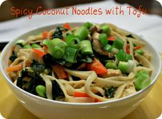 Grubarazzi: Spicy Coconut Noodles with Tofu