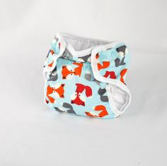 Fox Newborn Cloth Diaper with umbilical cord snap  by LoveuSewMuch