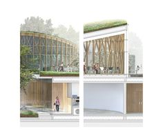 in denmark, the city of odense has revealed plans drawn up by japanese architect kengo kuma for a new hans christian andersen museum. Kengo Kuma, Odense, Plan Drawing, Architectural Section, Hans Christian, Landscape Architecture, Denmark, How To Plan, Building