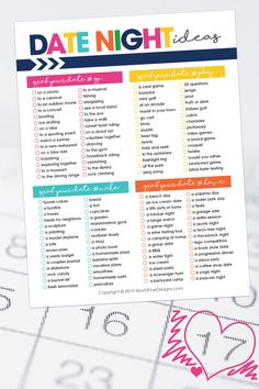 Coming up with fun, affordable ideas for date night is not easy! Avoid the struggle and use this this free printable list of Date Night Ideas for Couples! It includes lots of ideas for things to do out and about to things to do at home! Couples Things To Do, Things To Do At Home, Couple Things, Couple Scrapbook, Musical Cards, Cute Date Ideas, Fun Ideas, Gift Ideas, Easy Date