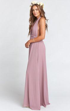 Luna Halter Dress ~ Antique Rose Chiffon   Show Me Your MuMu