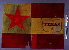 shield-and-star FLAGS TEXAS CONFEDERATES CARRIED INTO BATTLE