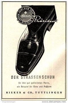 Original-Werbung/ Anzeige 1951 -  RIEKER SCHUHE / TUTTLINGEN - ca. 60 x 90 mm