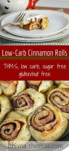 Low Carb Cinnamon Rolls...you asked, and here it is! THM:S, low carb, sugar free, gluten/nut free