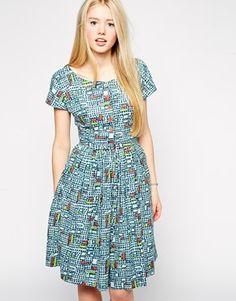Asos Emily & Fin Lottie Printed Tea Dress $135