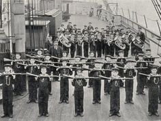 Drill on board the Training Ship Wellesley at North Shields. No fewer than 63 of its boys were killed in Blaydon Races, George Stephenson, North Shields, North East England, Coal Mining, My Heritage, Historical Pictures, Newcastle, History