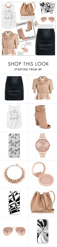 """Summer Booties Style"" by atelier-briella ❤ liked on Polyvore featuring McQ by Alexander McQueen, Alexander McQueen, Kristin Cavallari, Music Notes, Olivia Burton, Ellen Conde, Bourjois, Lancaster, Ray-Ban and cute"
