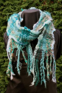Mediterranean an Everyday Scarf in turquoise by VanessaTCunningham