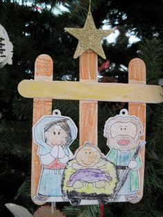Nativity Craft for preschoolers