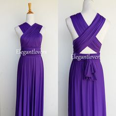 Check out this item in my Etsy shop https://www.etsy.com/uk/listing/274584252/convertible-dress-purple-wedding-dress
