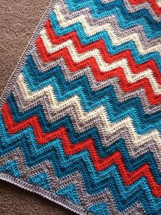 10 chevron crochet patterns including this Chevron 2.0 blanket from BabyLoveBrand via Craftsy