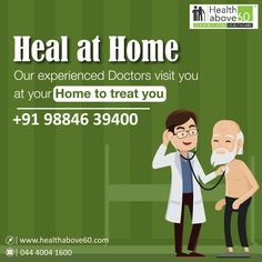Don't worry about stepping out for doctor consultations, especially during tight #lockdown situations. We offer At home #DoctorVisits and treatments for the elders in need. Contact us on 98846 39400 for appointments. #Healthabove60 Doctor On Call, Good Doctor, Chennai, Don't Worry, Appointments, No Worries, Health Care, Healing, Health