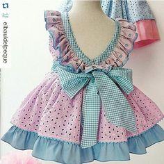 Little Girl Dresses, Girls Dresses, Baby Dress Design, Baby Frocks Designs, Girl Dress Patterns, Cute Dresses, Kids Outfits, Kids Fashion, Pink