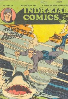 Indrajal Comics - Tryst With Destiny (Issue) Vintage Comic Books, Vintage Comics, Indrajal Comics, Times Of India, Comic Styles, Destiny, Movie Posters, Art, Art Background