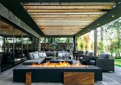 The most amazing luxury homes ever: brilliant architecture and brilliant interior design project Outdoor Rooms, Outdoor Living, Outdoor Decor, Outdoor Ideas, Exterior Design, Interior And Exterior, Home Deco, Future House, Interior Architecture