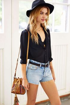 Levis 501 Slash Cutoff Short - Urban Outfitters...love the hat